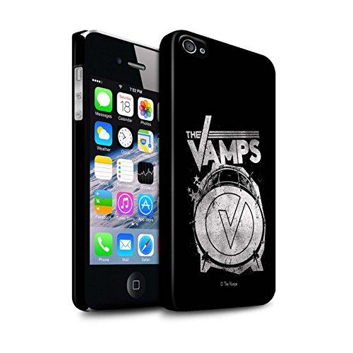 Officiel The Vamps Coque / Clipser Matte Etui pour Apple iPhone 4/4S / Pack 6pcs Design / The Vamps Graffiti Logo Groupe Collection Grosse caisse