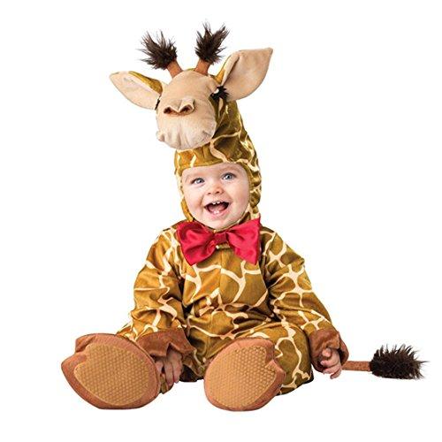 (Kenmont Kleinkind Baby Säugling Spielanzug Tier Kostüm Overalls Foto-Prop Outfits Weihnachten Halloween Outwear Bodys (Giraffe, 80))