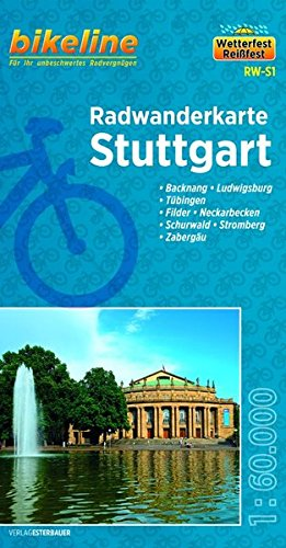Maps Wetter (Stuttgart (RW-S1) Backnang,  Ludwigsburg, Tübingen, Filder, Neckarbecken, Schurwald, Stromberg, Zabergäu, 1:60.000, wetter- und reißfest, GPS-tauglich mit UTM-Netz)