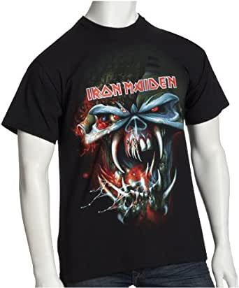 EMI Shirts Iron Maiden Final Frontier - What Big Teeth Euro Tour 571855 Herren Shirts/ T-Shirts, Gr. 48/50 (M), Schwarz (black)