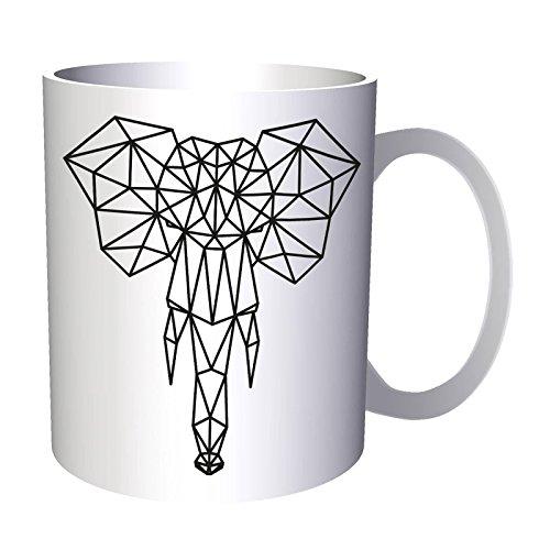 Neue Geometrische Elefant Tattoo 33 cl Tasse h240
