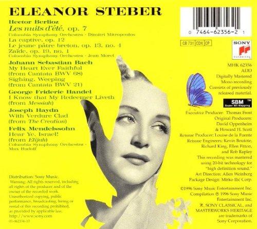 Eleanor Steber, soprano - Les Nuits d'été / Arias baroques, classiques & romantiques
