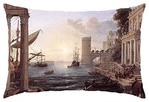 "Preisvergleich Produktbild iRocket - Claude Lorrain - Seaport With the Embarkation of the Queen of Sheba - Throw Pillow Cover (24"" x 24"")"
