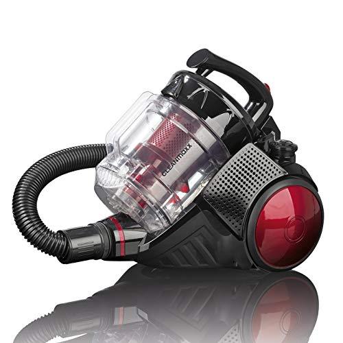 CLEANmaxx 07675 Bodenstaubsauger | Staubsauger beutellos | Leistungsstarker Zyklon-Staubsauger | HEPA Filter | 700 Watt
