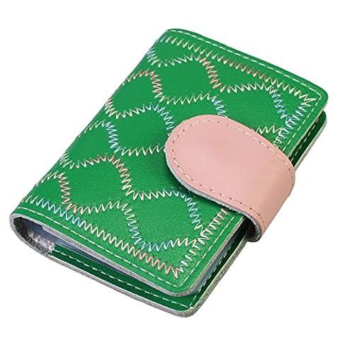 kilofly Porte-cartes–Book Style Rétro avec 26poches Carte taille unique vert