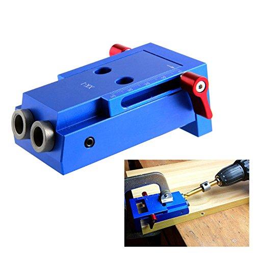 Starall Mini Tasche Loch Jig Kit Holz Link System 3 Schritt Bohrer schräg Holz Dübel Jig Tools Set -