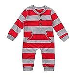 MIRRAY Weihnachten Neugeborenes Baby Mädchen Jungen Langen Ärmeln Gestreift Strampler Kinder Weihnachten Kleidung