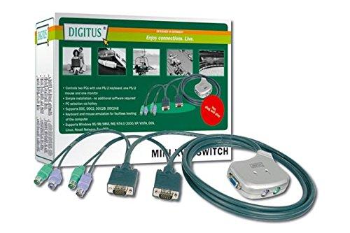 Digitus DC OC12 Umschalter KVM-Switch, 2x Pocket, PS/2-Maus schwarz