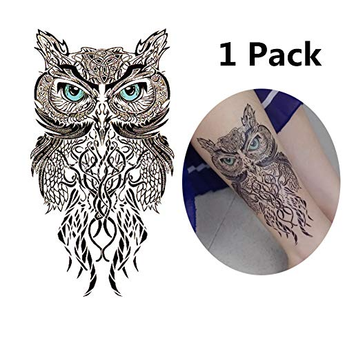 JZTRADING Tätowierung Temporär Tattoos Temporär Gefälschte Tattoos Wasserdicht Körper Rücken Tattoos for Frauen Eule