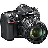 Nikon 7100 + 18 - 105mm + SD 8GB Appareil Photo Numérique Reflex 24.1 Mpix Noir