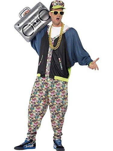 Herren Kostüm 80er Jahre Hip Hop Rapper Karneval Fasching (80 Hip Hop Kostüme)
