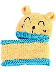 Algodón suave invierno caliente bebé Los productos del calentador del cuello y el sombrero
