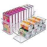 mDesign 2er-Set Aufbewahrungsboxen - ideal als Kühlschrankbox, Haushaltsbox oder für sonstige Haushaltsutensilien - aus robustem Kunststoff - durchsichtig