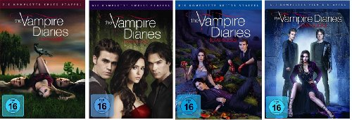 The Vampire Diaries – Staffel/Season 1+2+3+4 * Komplett * DVD Set