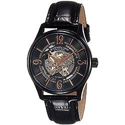 Stuhrling Original Delphi 992.02 - Reloj de pulsera Automático Hombre correa dePiel Negro