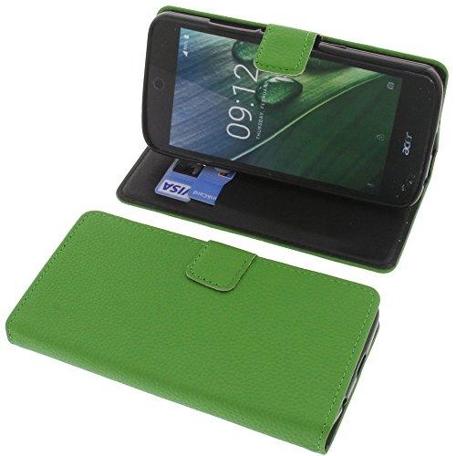 foto-kontor Tasche für Acer Liquid Zest Plus Book Style grün Schutz Hülle Buch