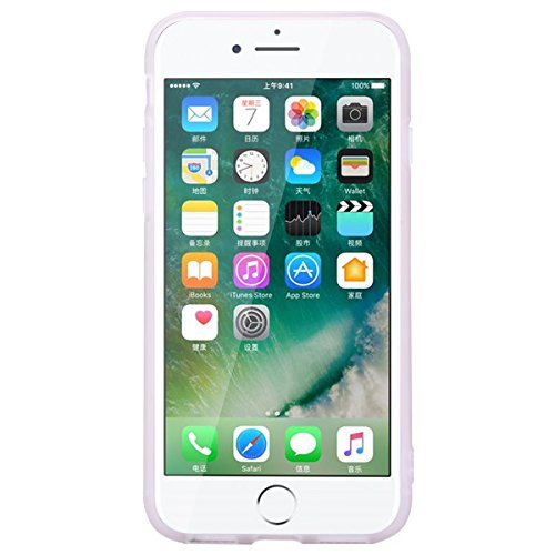 "WE LOVE CASE iPhone 7 / 8 Hülle Marmor Grün iPhone 7 / 8 4,7"" Hülle Silikon Weich Marble Handyhülle Tasche für Mädchen Elegant Backcover , Soft TPU Flexibel Case Handycover Stoßfest Bumper , Ultra Dün White"