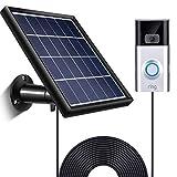SATINIOR Solarpanel für Ring Video Türklingel 2, wasserdichte Ladung, 5 V/ 3,5 W (Max.) Ausgang, Inklusive Wandhalterung, 3,6 m Langes Stromkabel (Keine Kamera Enthalten)