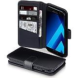 Galaxy A5 2017 Case, Terrapin [ECHT LEDER] Brieftasche Case Hülle mit Kartenfächer und Bargeld für Samsung Galaxy A5 2017 Hülle Schwarz