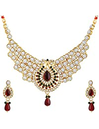 Banarsi Das Traditional Gold Jewellery Set With Earrings For Women And Girls