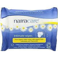 NATRACARE - Toallitas íntimas de Algodón Natural - Enriquecidas con aceites esenciales manzanilla, caléndula y