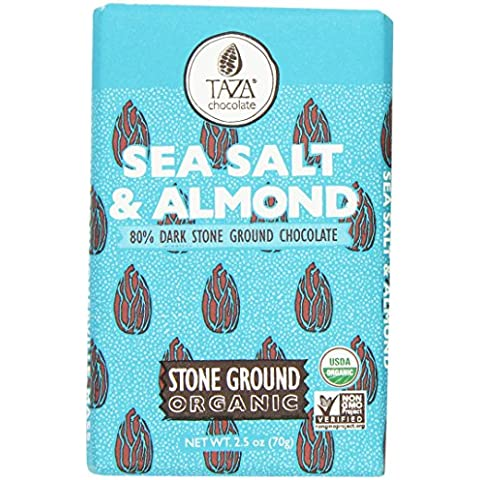 Taza Chocolate Sea Salt and Almond, 2.5 Ounce