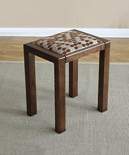 WUFENG Multifunktions Natur weiß Eiche Rechteck Abricht Tisch Hocker mit Stoff Sitz, schwarze Nussbaum Farbe, 40 * 30 * 45cm (Tisch Nussbaum Stoff Aus)