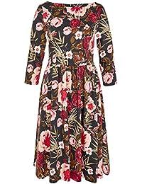 HALLHUBER A-Linien-Kleid mit Rosendruck A-Linie
