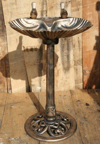 Vogelbad 50 x 80 cm im Muschel Look Vogeltränke Vogelbecken antik bronzefarbig