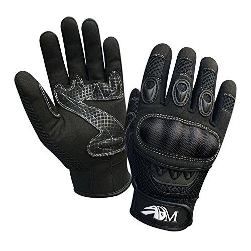 Prime Ganzer Finger Motorrad Sport Reiten Mountainbike Schutz Sommer Handschuhe 9001 – Schwarz, Small - 7