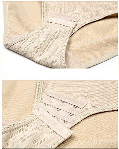 KOOYOL Damen Shaping Bodysuit Miederslip Postnatal Erholung Bauch Weg Taillenformer Shapewear Figurformender Body Top Qualität Nude