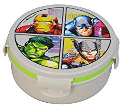 Marvel Avengers Plastic Lunch Box Set, 2-Pieces, Multicolour