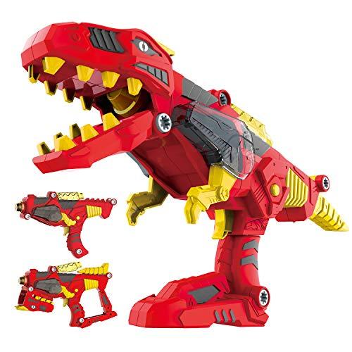 pielzeug - Konstruktion Tyrannosaurus Rex mit realistischen Sounds und Lichtern - Aufbau Ihres eigenen Dinoblaster Dinobot Blaster - Bestes Geschenk für Jungen Kinder 3+ Jahren ()