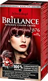 Brillance Intensiv-Color-Creme, 876 Edelmahagoni, 3er Pack (3 x 1 Stück)