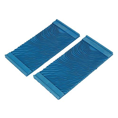sourcingmapr-ms11-household-15cmx72cm-wall-art-paint-rubber-wood-graining-tool-blue-2pcs