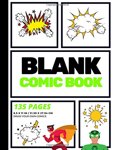 Blank Comic Book: Create Your Own Comic Strip, Blank Comic Panels, 135 Pages, Lime Green (Large, 8.5 x 11 in.)