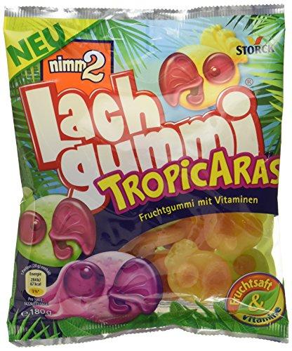 nimm2 Lachgummi TropicAras – Spaßiges Fruchtgummi mit Vitaminen – 18er Pack (18 x 180g)