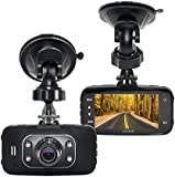SENWOW GS8000L Car DVR 1080P,HD Black Box Traveling Driving Data Recorder Camcorder Vehicle Camera Night Version Dashboard Dash Cam With 120 Degree Angle View Black (With 8GB Card)