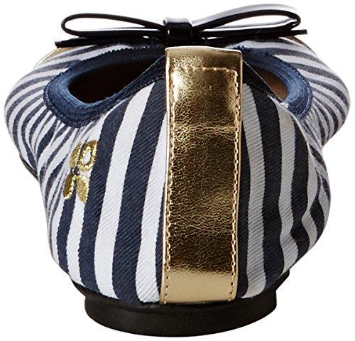 Butterfly Twists cara, Ballerines femme Multicolore - navy white stripe