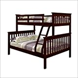 Twin Over Full Mission Bunkbed in Dark Cappuccino With Blue Tent Kit by DONCO