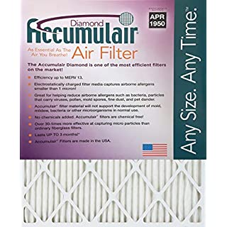 19.88x21.5x1 (Actual Size) Accumulair Diamond 1-Inch Filter (MERV 13) (6 Pack)