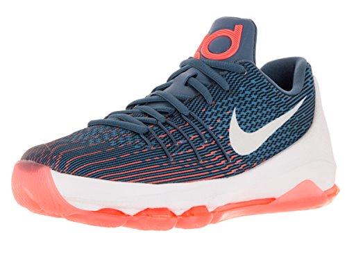 Nike Kids KD 8 Basketball Shoes-OceanFog/White-MidNavy-Phtblue-6.5 (Kd-8 Schuhe)