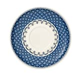 Villeroy & Boch Casale Blu Untertasse, 16 cm, Premium Porzellan, Weiß/Blau