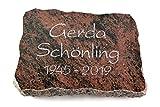 Generic Grabplatte, Grabstein, Grabkissen, Urnengrabstein, Liegegrabstein Modell Pure 40 x 30 x 5 cm Aruba-Granit, Poliert inkl. Gravur (Ohne Ornament)