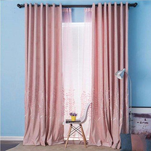 Tende rilievo ricamata tende, lavanda, stoffa arte cortina, soggiorno, camera da letto, il balcone e stile europeo,a,250 x 270 cm (w x h) x 2