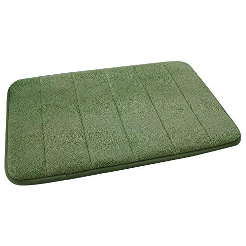 40 x 60cm Memory Schaum Coral Fleece Stoff Anti-Rutsch Sicherheit Haus Bad WC Teppich Boden Matte Pad zufällige Streifen Muster Badvorleger Grün