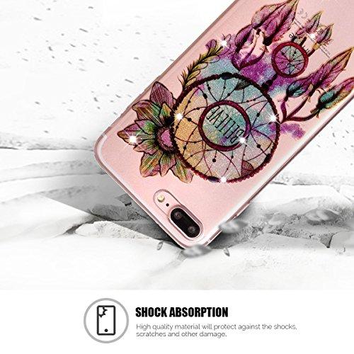Coque iPhone 7 Plus, SpiritSun Clair Transparente Etui Coque en Silicone pour iPhone 7 Plus (5.5 pouces) Flexible TPU Housse Etui Souple Silicone Etui Coque de Protection Mince Légère Etui Téléphone D Attrape Rêves