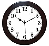 IT2M 11 Inch Round Wooden Wall Clock (No...