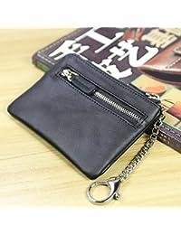 3c3c06942 LLZZPQB Billetera/Monedero Mini Ultra Delgada Funda De Moneda Doble Cremallera  Billetera De Mujer Paquete