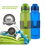 Jerrybox Faltbare Trinkflasche Zusammenlegbare Wasserflasche aus Silikon 0,65l, Tragbare und Auslaufsichere Sportflasche für Outdoor, Reisen, Radfahren, Wandern, Camping und Picknick